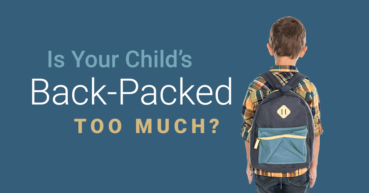 Is Your Child's Back-Packed Too Much | Nimbus Clinics