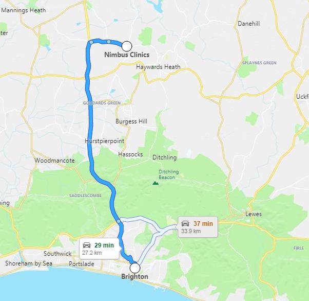 Brighton Directions Map